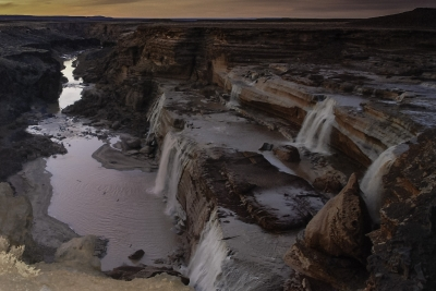 Grand Falls At Sunset