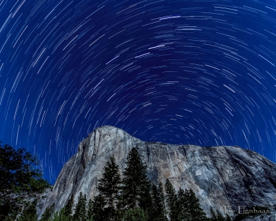 Star Trails Over El Capitan