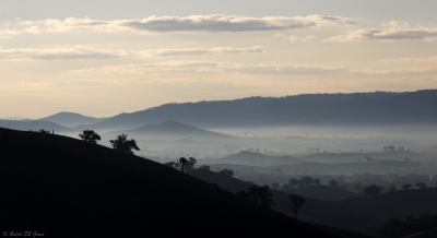 Afternoon Mist Over The Yea Valley