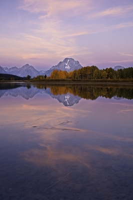 Swirls Of Pink In The Tetons