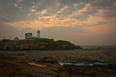 Nubble With Pink Sky