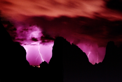 Lightning Storm Through Cathedral Valley