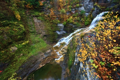 Autumn And Waterfalls