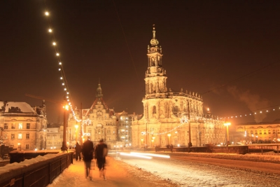 Dresden Alure At Night In Winter