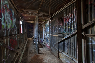 Abandoned Factory Silo Access Stairs