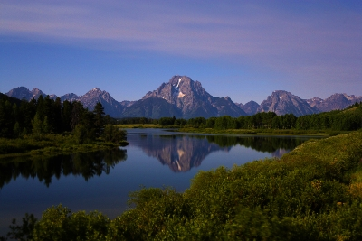 Moonlight At Oxbow Bend