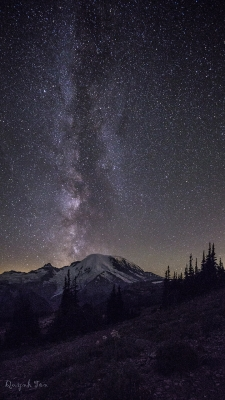 Milky Way Top Of Mountain