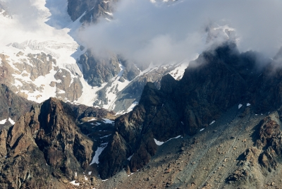A Dying Glacier : Mt. Disgrazia From Sasso Bianco Summit .