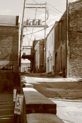 Sepia Rendition Of Cotton Square Alley
