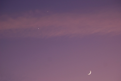 Crescent Moon And Planets