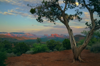 Courthouse Butte And Cathedral Rock, Sedona, Az