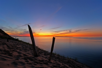 North And South Manitou Island Sunset