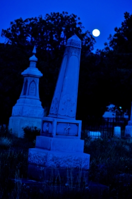 Moonlit Tombstone