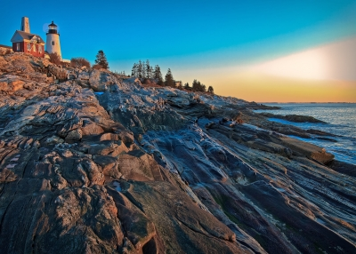 Pemaquid Point Lighthouse At Sunrise