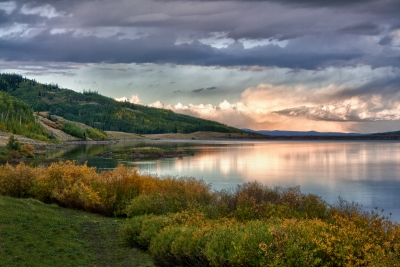 Stormy Sunset At Yamcola Reservoir