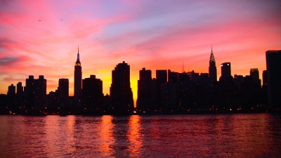 Nyc Pink Sunset