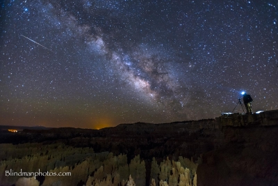 Self Portrait Over Bryce Canyon