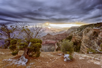 Sunrise Over Yavapai Point