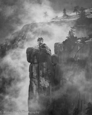 Precipice And Fog, Yosemite National Park