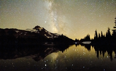Milky Way And Mt. Jefferson
