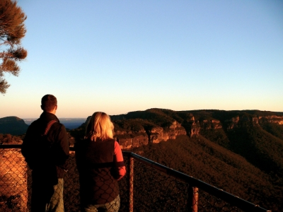 The View At Sunset From Cahill's Lookout, Katoomba, Nsw