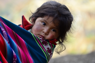 Peruvian Child Wondering