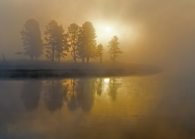 Dawn On Yellowstone River