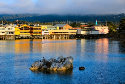 The Wharf In Monterey Sunset
