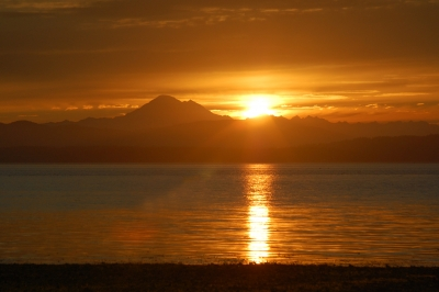 The Sun Has Risen! San Juan Cove Facing Mt. Baker