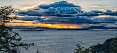 Sunset Squall Over Vancouver Island