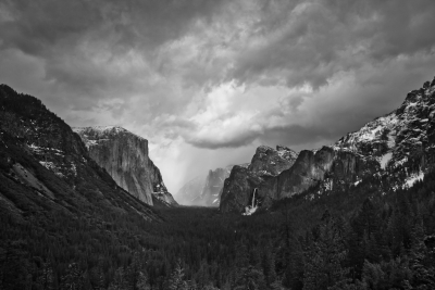 Arriving Storm In Yosemite Valley