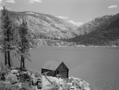 Mccoy Boat House At Pinecrest Lake In 1946