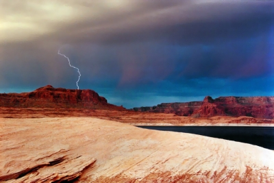 Lightning Over Lake Powell