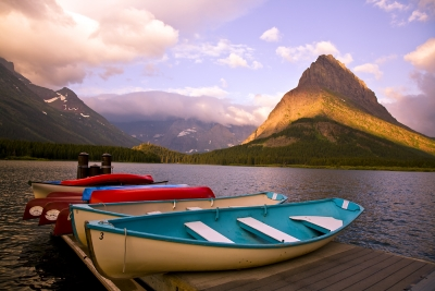 Sunrise On Swiftcurrent Lake, Glacier National Park