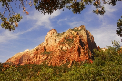 Peak At Zion National Park