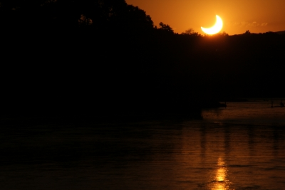 Annular Eclipse At Sunset, May 20, 2012