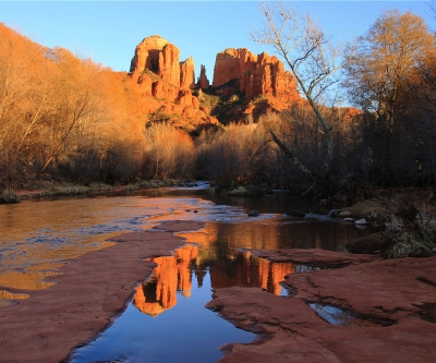 Reflection Of Sedona's Red Rocks