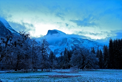Half Dome In Blue