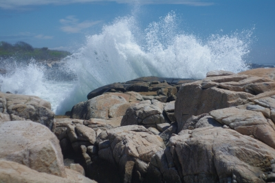 Surf Over Rocks