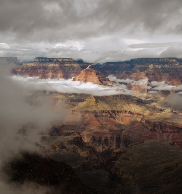 Isis Templi In The Clouds, Grand Canyon