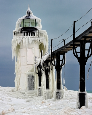 """frozen Light"" St. Joseph Lighthouse"