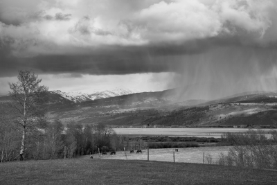 Thunderstorm, West Slope Of Teton Range, Idaho