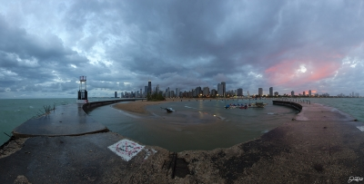 Stormy North Ave Sunset