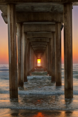 Sunset Under Scripps Pier