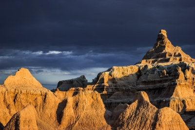 Badlands – Clearing Storm At Sunset