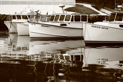Four Lobster Boats
