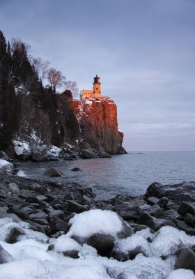 Last Winter Light At Split Rock