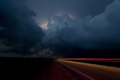 Nebraska Supercell After Dark