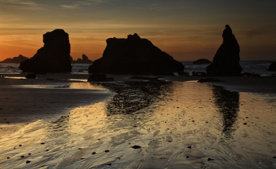 Sea Stacks In Twilight