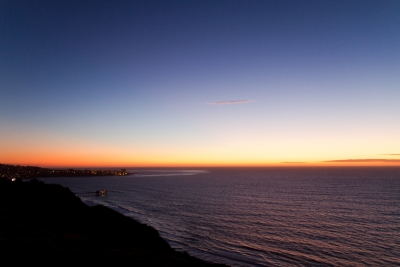 Blacks Beach Cliffs Silhouette